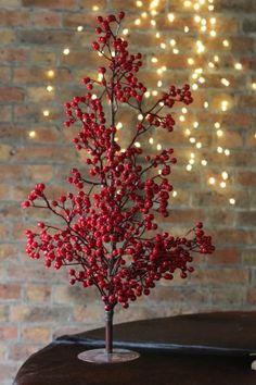 Red Berry Christmas Tree #ChristmasTree #ChristmasDecorations #RedBerry #TisTheSeason