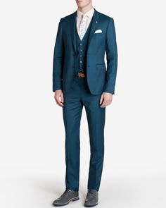 Wonderful Perfect Wedding Dress For The Bride Ideas. Ineffable Perfect Wedding Dress For The Bride Ideas. Teal Groomsmen, Groom And Groomsmen Attire, Blue Prom Suits For Guys, Suit Fashion, Mens Fashion, Ted Baker Suits, Teal Suit, Teal Bridesmaid Dresses, Wedding Suits