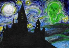 harry potter meets starry night.