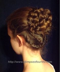 a glimpse of our life: Regency Style Braided Bun Tutorial Braided Bun Hairstyles, Cute Hairstyles, Updo Hairstyle, Braided Buns, Knotted Braid, Messy Buns, Hairdos, Hairstyle Ideas, Braided Bun Tutorials