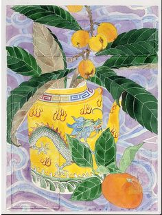 loquats and yellow teapot GABBY MALPAS