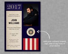 Military Promotion Invitation / Going Away / Deployment / Retirement /  Bootcamp / Basic Training DIGITAL