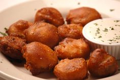 Hand dipped, beer battered pickles Fritta. Served with our famous housemade ranch. These may be the best you've ever had ! #DeepFriedPickles #Pizza #Appetizer #RanchDressing