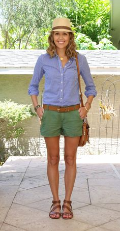 Today's Everyday Fashion: Green Shorts — J's Everyday Fashion                                                                                                                                                                                 More
