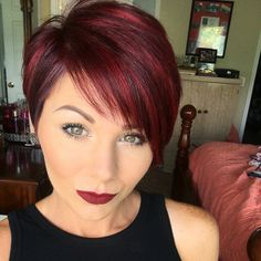#redpixie #redhighlights #pixie #PixieHairstyles