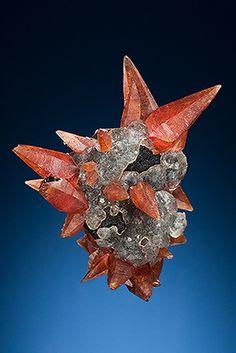 Rhodochrosite and Fluorite, Peru