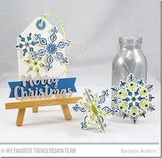 Snowflake Sparkle Card Kit - Barbara Anders     #mftstamps
