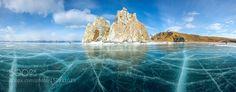 Ice and rocks of lake Baikal by ArtemOleshko LandScapes Photography #InfluentialLime
