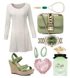 Jaded!! by pulseofthematter on Polyvore featuring polyvore fashion style UGG Australia Valentino Rolex Palm Beach Jewelry Kendra Scott Dolce&Gabbana women's clothing women's fashion women female woman misses juniors