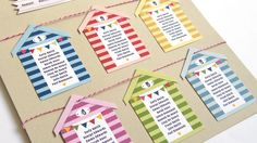 Holiday Beach Huts Wedding Table Seating Plan A2 by STNstationery