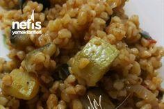 Patlıcanlı Kabaklı Bulgur Pilavı Tarifi
