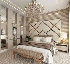 87 extraordinary and inspiring home bedroom interior design for decoration 83 Modern Luxury Bedroom, Luxury Bedroom Design, Bedroom Furniture Design, Master Bedroom Design, Luxurious Bedrooms, Home Decor Bedroom, Home Interior Design, Contemporary Bedroom, Luxury Home Decor