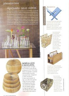 """O revisteiro Leg está entre as sugestões da seção """"Planeta Casa"""", na revista Casa Claudia de maio. Um mimo só! http://www.meumoveldemadeira.com.br/produto/revisteiro-leg-jasmine"""