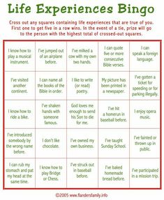 """Today's game is """"Life Experiences BINGO."""" This makes a great ice breaker to play as guests are arriving. Guests are asked to check off all statements that apply to them. Whoever calls gets a BINGO . Ice Breaker Bingo, Ice Breaker Games For Adults, Group Ice Breaker Games, Senior Activities, Elderly Activities, Team Building Activities For Adults, Senior Games, Leadership Activities, Games For Senior Citizens"""