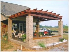 pictures of pergolas attached to house | attached pergola 3 8 Attached pergola 3