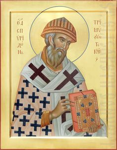 This icon of Saint Spyridon is painted with acrylic or tempera paints. The Icon Painting Studio of St Elisabeth Convent offers high-quality painted icons Byzantine Icons, Byzantine Art, Sculpt Studio, Fresco, Paint Icon, Painting Studio, Religious Icons, Orthodox Icons, Thing 1