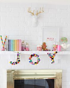 colorful-christmas-style-pom-pom-letter-banner