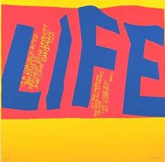 Sister Corita - Life is a complicated business 1967