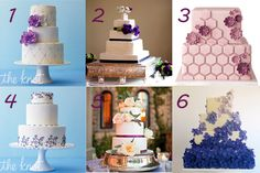 Hot 6 Purple Wedding Cakes from the Knot