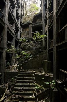 Dilapidated stairs.  Self Architecture