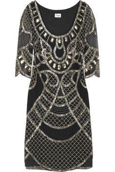 Temperley London Sequin-embellished crepe dress