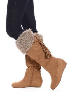 Shop ModDeals.com for Camel Boots With the Fur Suede Tall Boots in our cheap trendy Shoes category. Find trendy cheap clothing for women, discount shoes, jewelry sales, perfume & cheap accessories for