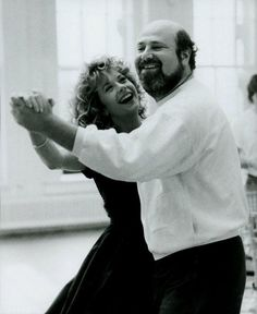 """Meg Ryan and director Rob Reiner on the set of """"When Harry Met Sally"""" ~ 1989"""