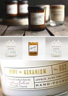 We love this beautiful candle label design!  Do you need custom printed candle labels for your business? Visit us at http://ziptape.com to see our printing capabilities!
