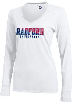 Radford University Highlanders Women's Long Sleeve V-Neck Campus T-Shirt