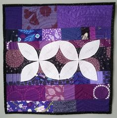 Finished or Not Friday Linky Party at Busy Hands quilts!  Quilty Habit: Ripple: An Orange Peel Mini Quilt