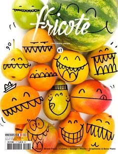 Fricote / magazine cover / editorial design / magazine design / lay-out Food Design, Design Art, Print Design, Food Graphic Design, Layout Design, Fruit Packaging, Packaging Design, Coffee Packaging, Grafik Magazine