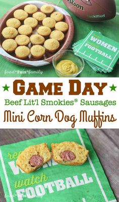 Game Day Mini Corn Dog Muffins Beef Lit'l Smokies Sausages Recipe from ...
