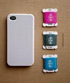 embroidery iphone case -- such a cool idea!