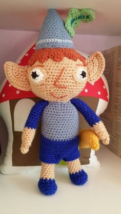 Crochet Ben Elf from Ben and Holly's Little Kingdom. Made by me.