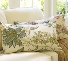 Just bought two of these for my new couch. Guiliana Palampore Embroidered Lumbar Pillow Cover #potterybarn