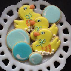 Rubber Duckies sugar cookie favors. $30.00, via Etsy.