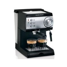 Hamilton Beach Espresso Maker powerful 15-bar Italian pump  http://stylexotic.com/hamilton-beach-espresso-maker-powerful-15-bar-italian-pump/