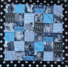 photo quilt... I want this done with my wedding pictures
