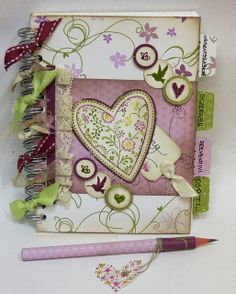 Le piccole cose di Giò  This is a pretty notebook, or agenda, or journal, or diary, or drawing journal.  Thanks you my friend Tania that shared it with me!! - AGlez