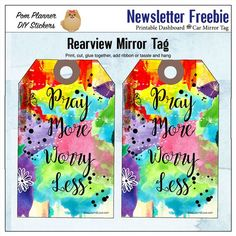 Made a dashboard for my #IllustratedFaith #Praisebook  then turned in to a rearview mirror tag (print, cut, glue, ribbon, hang). Free printable in the first ever BibleJournalLove newsletter. Join at biblejournallist.pages.ontraport.net