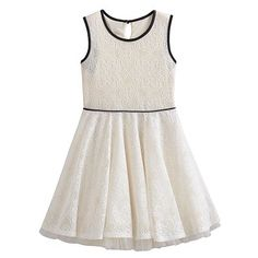 Knitworks Crochet Skater Dress - Girls 7-16