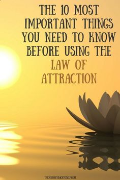 The 10 Most Important Things You Need to Know Before Using The Law of Attraction. To read, click: www.thejourneybac...