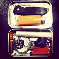 Small Emergency Kit in an Altoid container. Simple to make and easy to carry.
