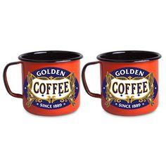 Conjunto 2 canecas tamanho G Metalizadas - Golden coffee.