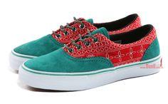 "Vans Vault Era LX ""Inca Flower"" Teal/Red"