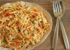 cabbage & apple slaw with tahini dressing