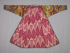 Embroidered Surcoat, Khalat, Uzbekistan, Shahrisabz, 19th century, silk; cross-stitch, embroidery - IKAT