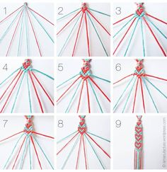 Embroidery Bracelet Patterns The Diy Fastest Friendship Bracelet Ever. Embroidery Bracelet Patterns Easy Friendship Bracelets With Cardboard Loom Red . Cute Crafts, Crafts To Do, Easy Diy Crafts, Kids Crafts, Bracelet Crafts, Jewelry Crafts, Heart Friendship Bracelets, Heart Bracelet, Diy Friendship Bracelets Tutorial