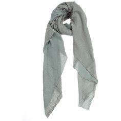 Faliero Sarti Creased Scarf ($525) ❤ liked on Polyvore featuring accessories, scarves, grey, grey scarves, faliero sarti scarves, faliero sarti, gray scarves and gray shawl