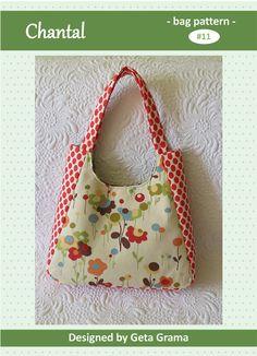 Purse and tote bag patterns ..Chantal bag (main fabric used is Wonderland by Momo for Moda Fabrics)